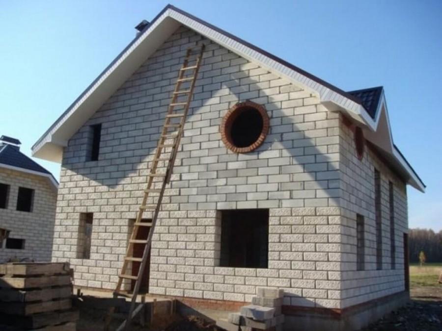 Дома своими руками из пеноблоков 8х8