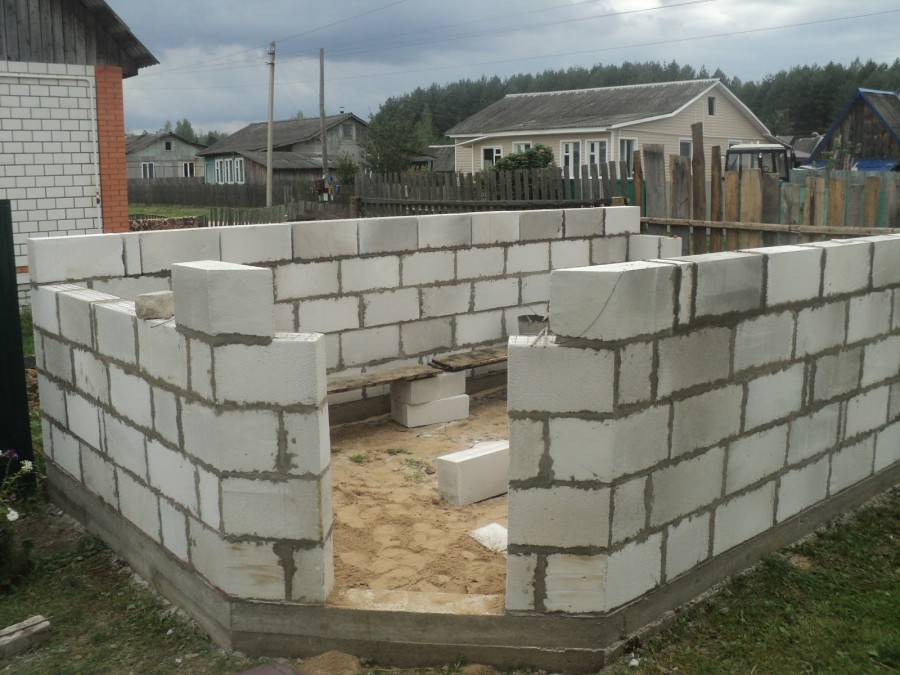 Построить дом из пеноблоков пошаговая фото инструкция