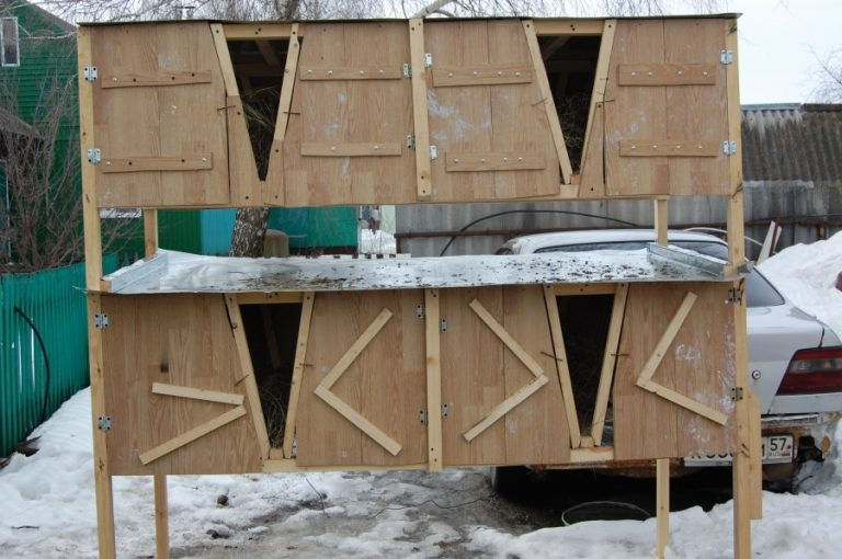 Двухэтажные клетки для кроликов своими руками 97