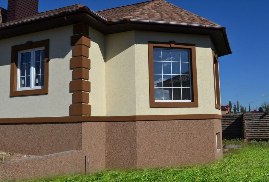 Покраска фасада из пенополистирола